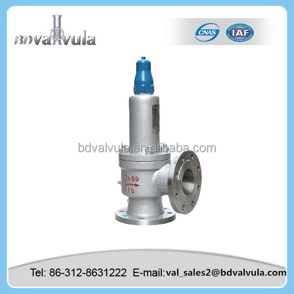 closed spring loaded low lift type safety valve drawing