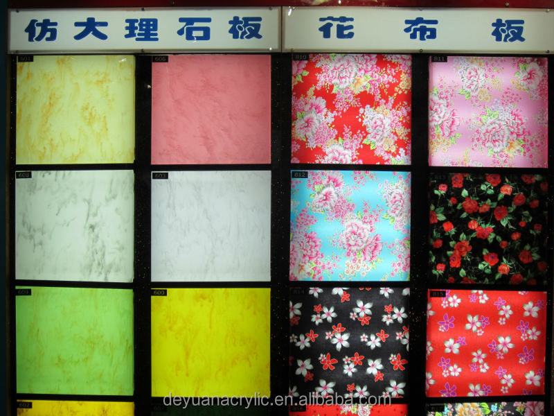 Home Decoration Acrylic board/ Indoor decoration Fashion design pattern acrylic sheet