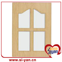 vinyl wrapped mdf kitchen cabinet glass doors