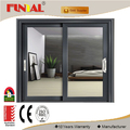 12mm,15mm,19mm thickness single glass aluminum sliding window for sale