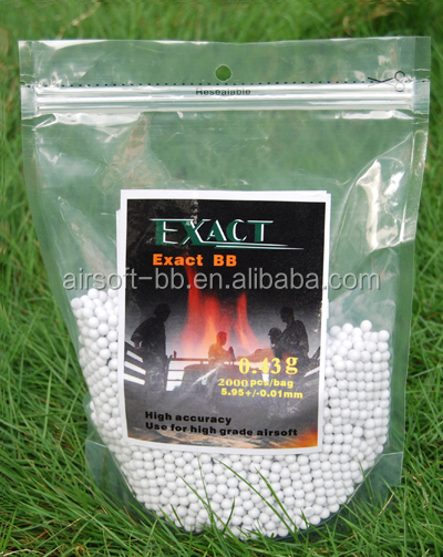 Airsoft gun bb 0.43g 6mm Exact airsoft guns bb metal wholesale airsoft bbs