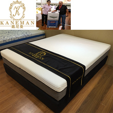 Natural latex visco gel memory foam fold compress colour box mattress
