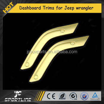 ABS Chrome Car Interior Dashboard Handle Bar Trims for Jeep Cherokee wrangler 11-15 2011-2015