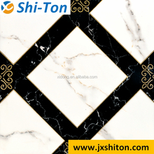 Factory direct polished crystal tile, white and black polished rectified porcelain tile