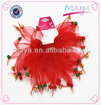 Fashion red hair tutus hair ponytail with bells(approved by BV)