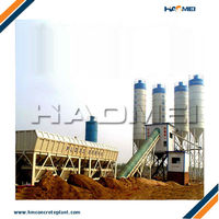 HZS90 Concrete Batching Plant With Ice Cooling Water System