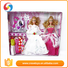 Eco-friendly kids plastic mini size american doll model dress up games for girls