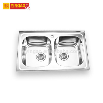 Modern design wash basin kitchen sink double stainless steel sinks