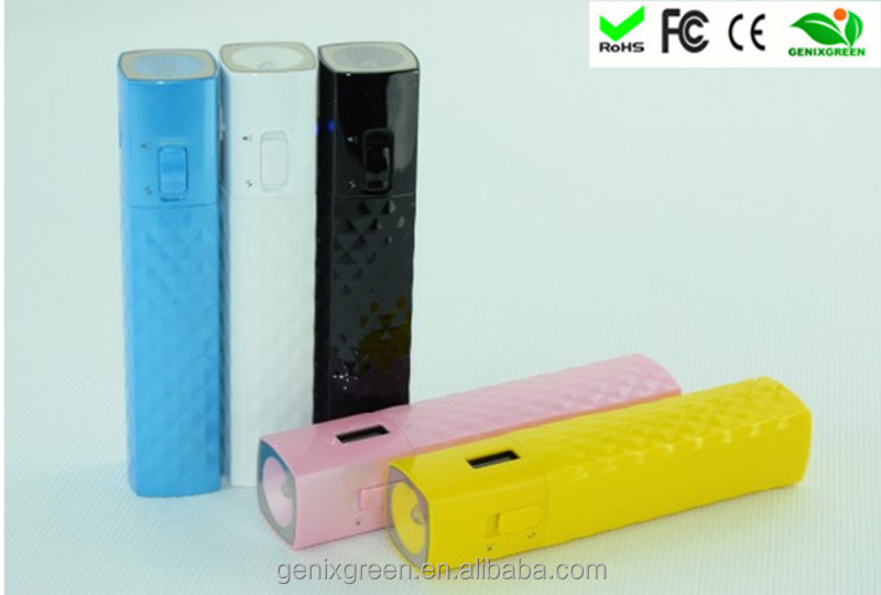 2014 ideas for new business 2600mah beautiful portable power bank made in china