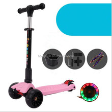 High quality cheap kick scooter for sale / black kick scooter with fash wheels / hot sale kids tri scooter