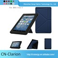 China Manufacturer Good Quality Real Leather Case Tablet Pc Case for fire 7 origami case