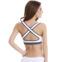 Comfortable and sexy back hollow design sports bra for women