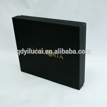 Gold stamping custom logo shopping malls counters cardboard packaging box