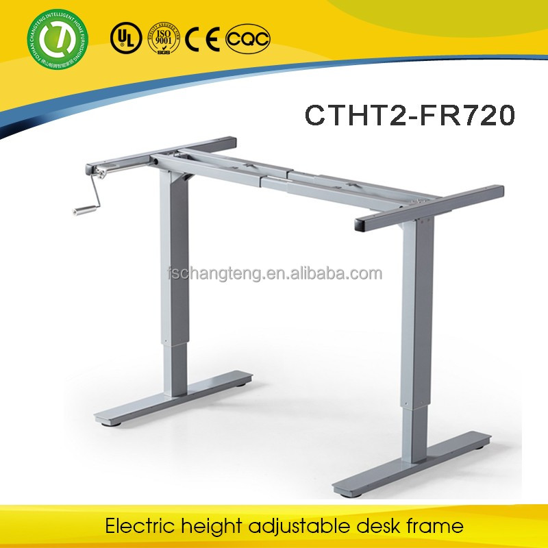 Tesco Holdings crank adjustable metal frame&Agricultural Bank of China manual height adjustable frame