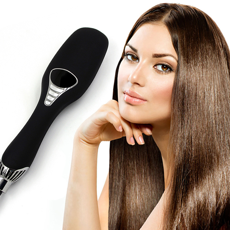 Innovative hair dryer brush smart hair straightener massage comb multifunctional cold warm wind electric ion drying comb