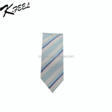 Blue and white stripe silk neck tie for business man neck wear