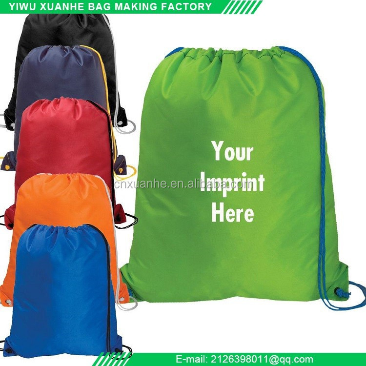 China factory supply polyester fabric drawstring bag promotional items for 2017