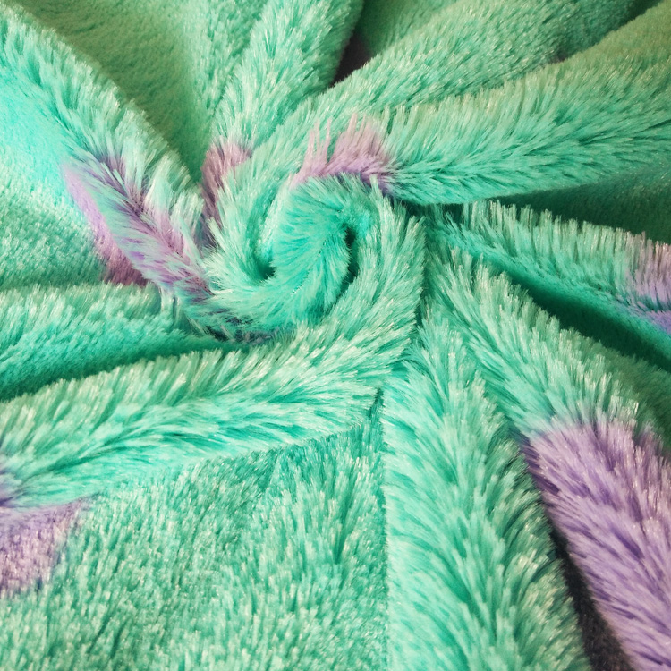Knitted technical and 100% polyester toy fleece fabric and baby blankets