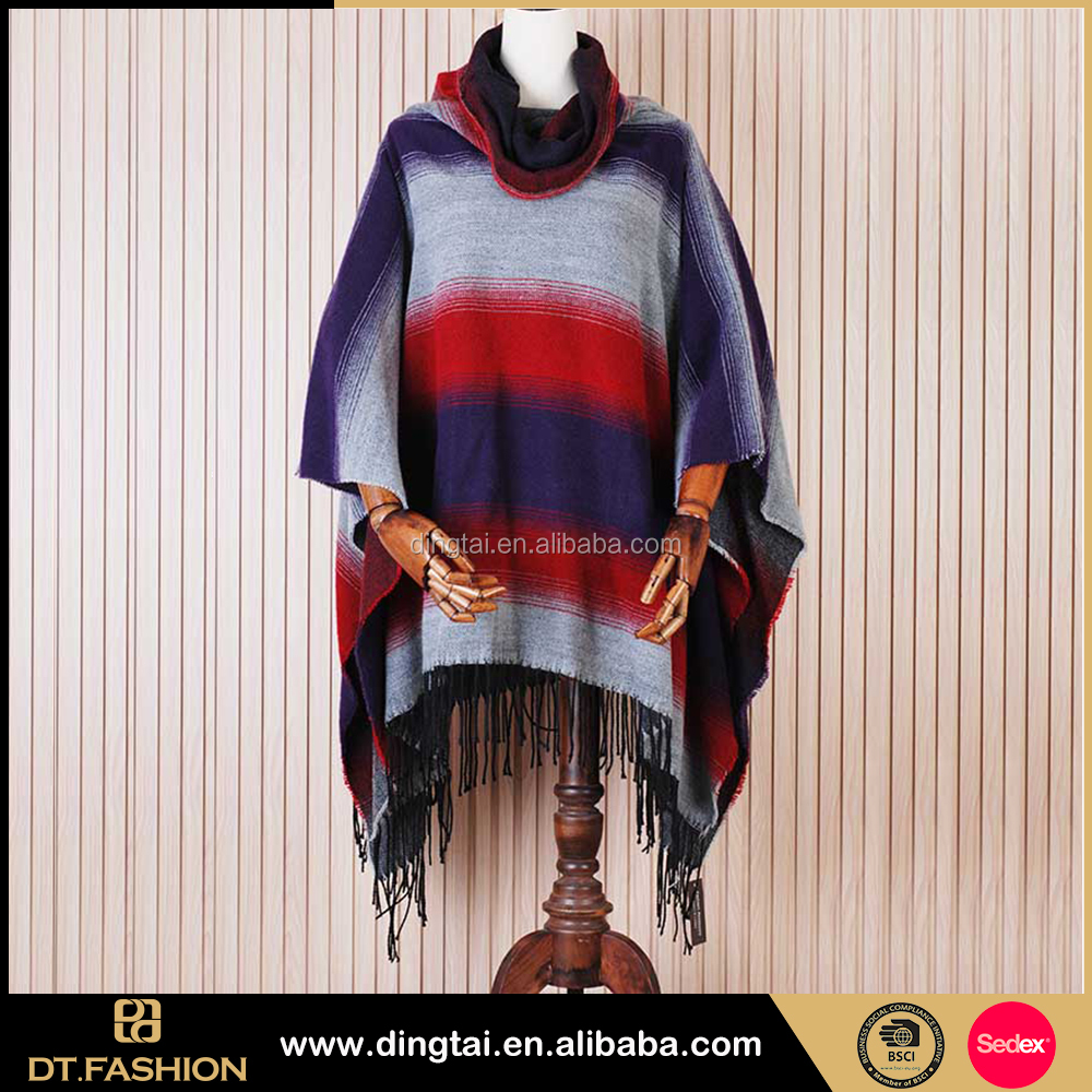 Latest cheap wholesale crochet scarf knit shawls for lady