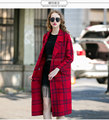Women's long casual wool models coat lady slim cardigan european tops garment factory OEM supply