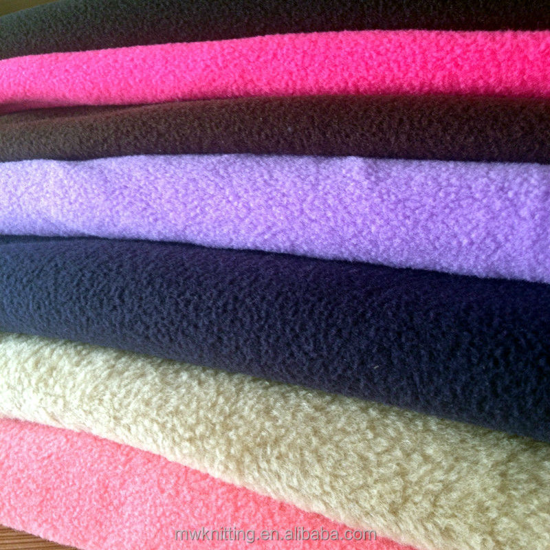 400Gsm Solid Thick Knitted Microfleece Fabric with Short Pile