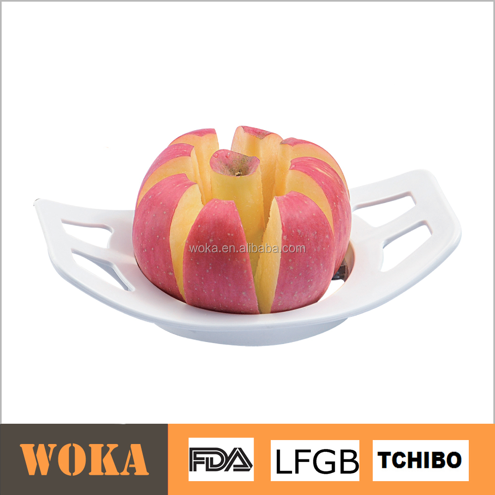 kitchen accessories manual plastic apple cutter stainless steel apple slicer