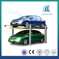 Hot sale double level four post hydraulic garage car lift