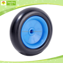 3 inch plastic wheel, small plastic toy car wheel with Brake tooth