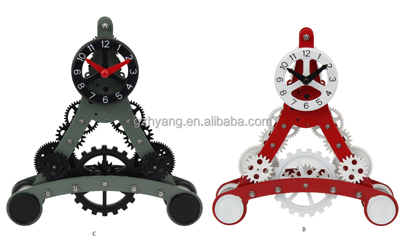 art creative mini eiffel table gear clock