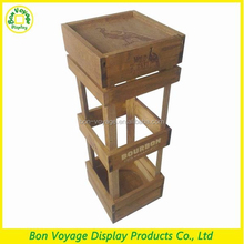 retail vintage wood wine alcohol display stand