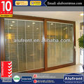 Commercial Aluminum Lift and Sliding Door with Blinds Glass