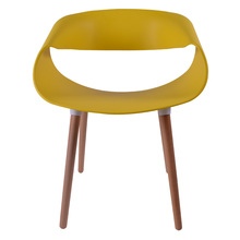 Modern Furniture pp back with wood legs Ergonomic plastic living room chair