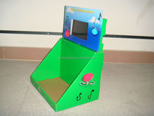 7 Inch LCD Screen cardboard Counter Display for toys display stand