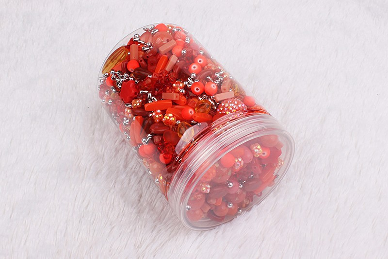 Hot sale in USA craft kits all kinds of acrylic ruby diy bead for kids