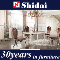 the latest modern dining table with 6 chairs glass dinning sets LV-A803