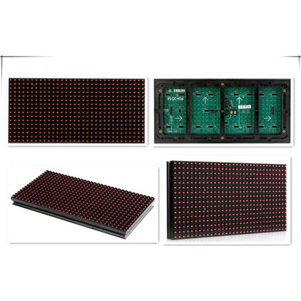 Semi-outdoor single led sign <strong>p10</strong> red color led display module