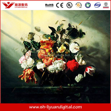 Good quality high glossy oil canvas fabric for advertising digital printing