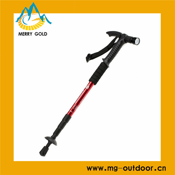 2016 High Quality and New Design 4-section LED Trekking pole