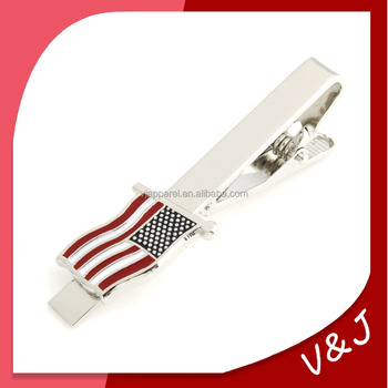 Hot sale new design mirror polish promotional custom metal tie clips