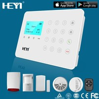 2015 newest touch screen TCP/IP+GSM alarmanlage alarm system,home automation with wired Internet connection GSM alarm system