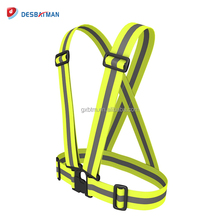 High Visibility Green Reflective Adjustable Safety Vest Belt for Running, Walking, Cycling, Horse Riding, Motorcycle