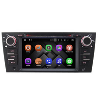 7inch Newest Android 7.1 system + BT + Radio + Audio + Vicar car video gps navigation dvd player for b mw e90