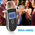 High sensitive digital breath alcohol tester with 3 digital LCD display and blue backlight and 5pcs mouthpieces