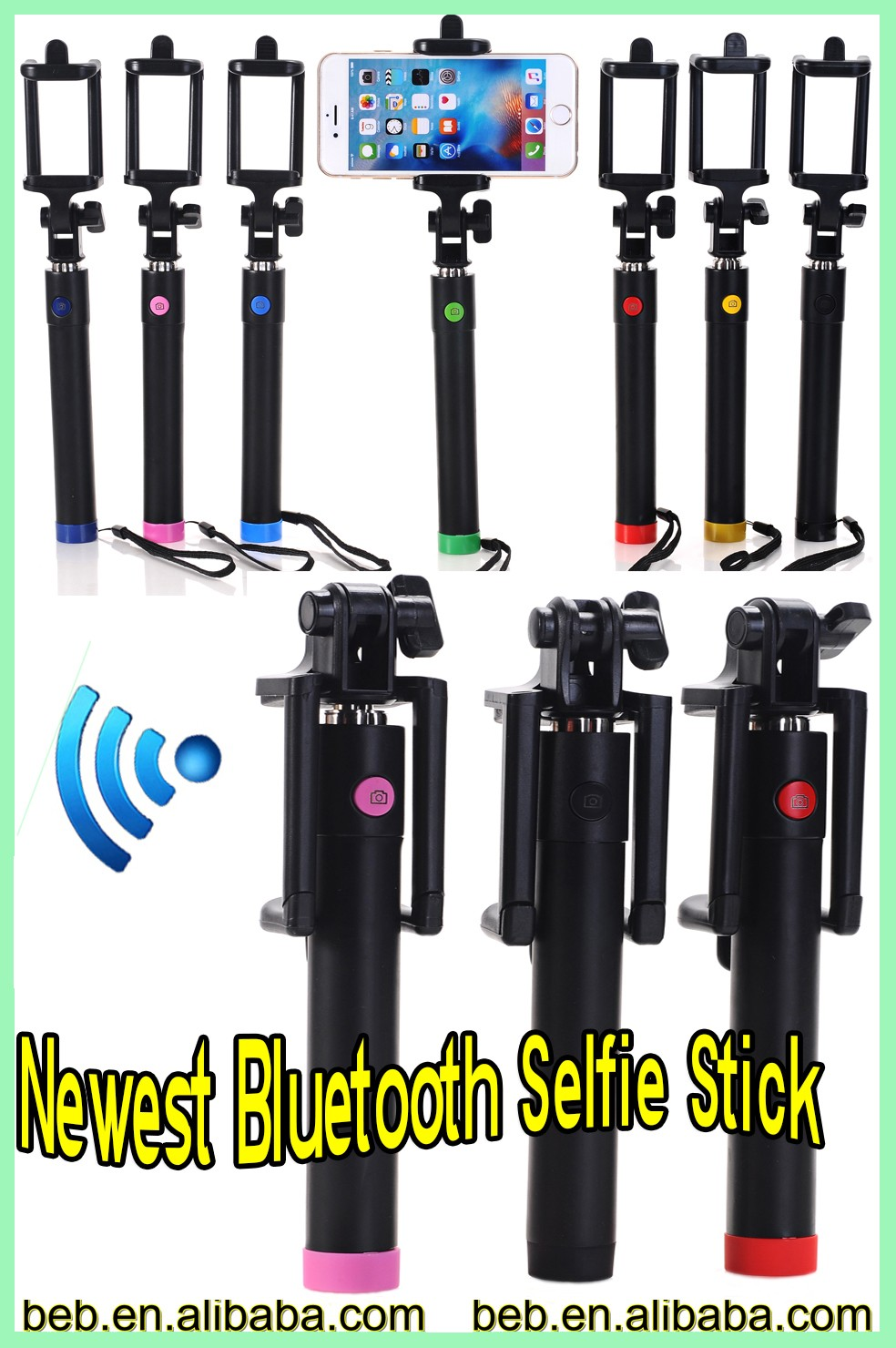 2016 trending hot product professional selfie stick taking photo bluetooth