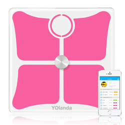 Red electric accuracy electronic Korea welby wifi body fat weighing scale