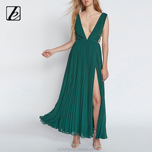 Sexy deep v-neck latest net designs indian girl sexy long frog dress