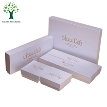 Shiny Pearl Paper Matt Gold Logo Printing One Set Chocolate Gift Packaging Box Wholesale with Paper Insert