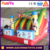 2016 pvc bouncy castle inflatable toboggan mickey slide factory price