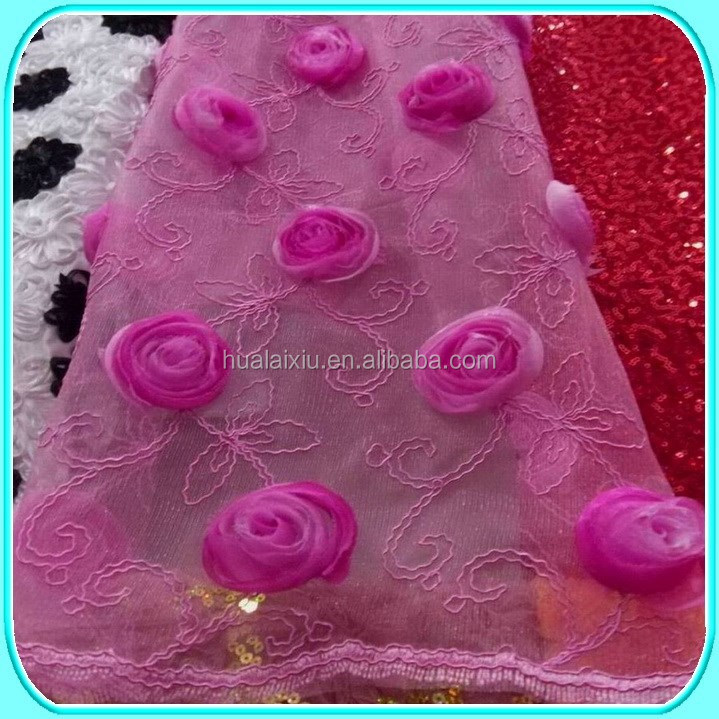 SATIN PINK ROSETTE TABLE CLOTH FABRIC WHOLESALE
