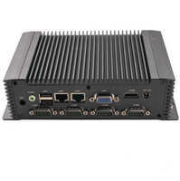 Mini PC 2 lan port ultra slim desktop computer IPC N26ECM Intel atom n2600 rs232 hdm i fanless 3.5 inch 12V dc in